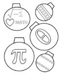 Math Symbol Christmas Coloring Sheet
