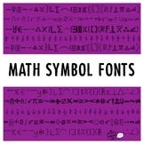 Math Symbol Fonts