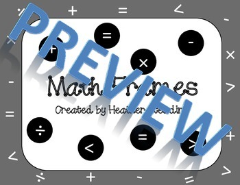 Math Symbol Frames