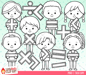 Math Symbol Kids Clip Art