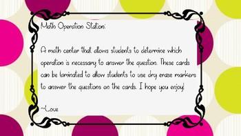 Math Operation Station