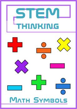Math Symbols Set 1 Add, Subtract, Multiply, Divide Clip Art