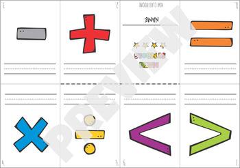 Elementary Math Symbols Booklet