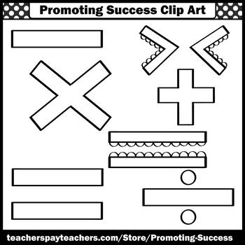Math Symbols Clip Art SPS