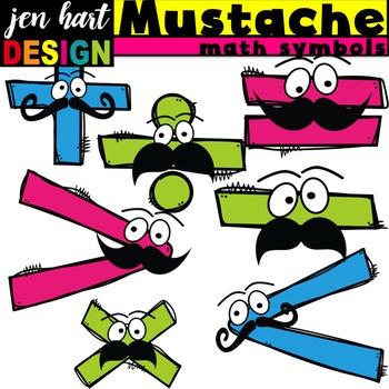 Math Symbols Clipart {Mustaches}