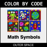 Math Symbols - Color by Code / Coloring Pages - Outer Space