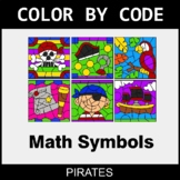 Math Symbols - Color by Code / Coloring Pages - Pirates