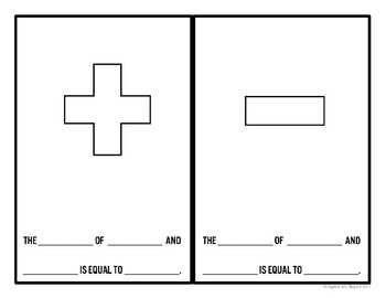 Math Symbols Activity (add, subtract, multiply, divide, & inequalities) - Doodlr