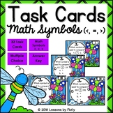 Math Symbols Greater Than and Less Than and Equal To Numbers 0 to 999 Task Cards