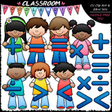 Math Symbols Kids - Clip Art & B&W Set