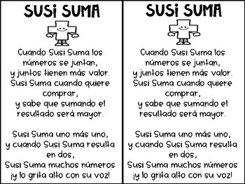 Math Symbols Poems in Spanish