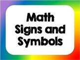 Math Signs and Symbols Posters / Cut outs