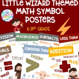 Math Symbols Posters with a Harry Potter Wizard Theme K-3rd Grade
