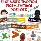 Math Symbols Posters with a Star Wars Theme K-3rd Grade