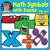 Math Symbols with Faces Clip Art