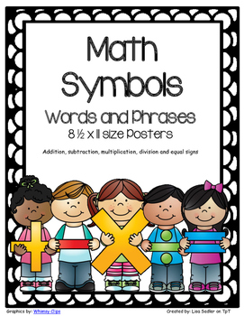 Math Symbols with Key Words and Phrases