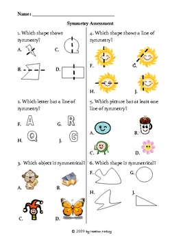 Math: Symmetry Test : Assessment and Practice