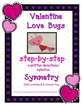 Math Symmetry with Valentine Love Bug Art Project