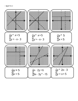 Math: Systems of Inequalities Cut-out Activity