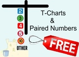 """Math: T Charts & Paired Numbers (Intro to Multiplication) """"Over 45 pages of FUN"""""""