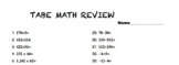 Math TABE Review sheet Adult Education