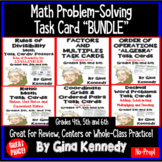 Math Task Card Bundle, Factors, Multiples, Decimals, Ratios and More