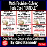 Math Task Card Bundle, Factors, Multiples, Decimals, Ratio
