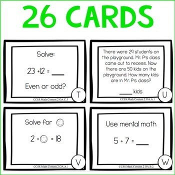 Math TASK CARDS {Operations and Algebraic Thinking} CCSS
