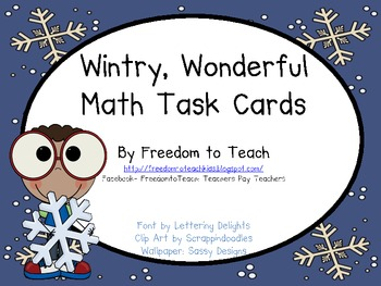 Math TASK CARDS Word Problems* Add/Subtract/Multiply/Divide