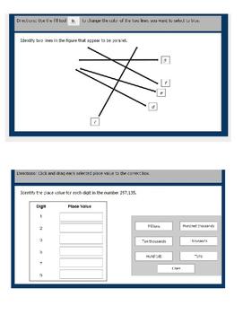 Math TEI Parallel 4th grade VA SOL Questions Google Slides
