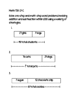 Math TEK 2.4 Multi-step Problems
