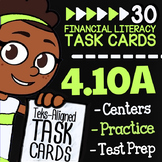 Math TEK 4.10A ★ Fixed & Variable Expenses ★ 4th Grade Fin