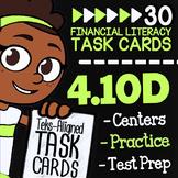 Math TEK 4.10D ★ Making a Weekly Budget ★ 4th Grade Financ