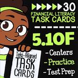 Math TEK 5.10F ★ Balancing a Simple Budget ★ 5th Grade Fin