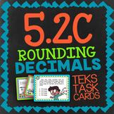 Math TEK 5.2C ★ Rounding Decimals ★ 5th Grade STAAR Math Practice Task Cards