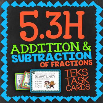 Math TEK 5.3H ★ Add & Subtract Unlike Fractions ★ 5th Grade STAAR Math Review
