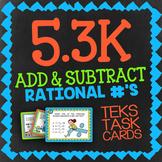 Math TEK 5.3K: Add & Subtract Rational Numbers ★ 5th Grade STAAR Math Task Cards