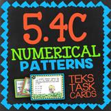 Math TEK 5.4C ★ Numerical Patterns ★ 5th Grade Task Cards