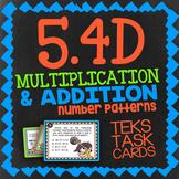 Math TEK 5.4D ★ Numerical Patterns ★ 5th Grade STAAR Math Task Cards ★ Review