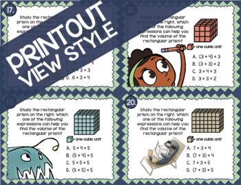 Math TEK 5.4G ★ Rectangular Prisms & Cubes ★ 5th Grade STAAR Math Practice