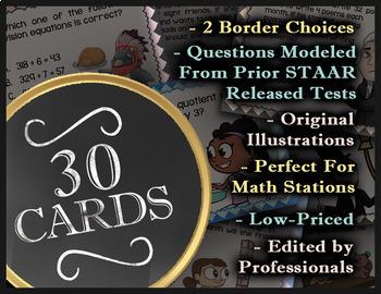 Math TEK 5.8A ★ Coordinate Plane Basics ★ 5th Grade STAAR Math Review Task Cards