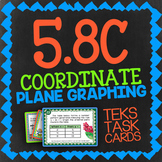 Math TEK 5.8C ★ Coordinate Planes ★ 5th Grade STAAR Math Review Task Cards