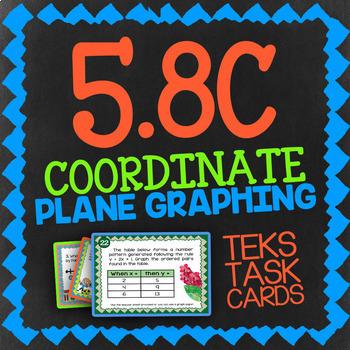 Math TEK 5.8C ★ The Coordinate Plane ★ 5th Grade Task Cards