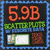 Math TEK 5.9B ★ Scatter Plots ★ 5th Grade STAAR Math Test Prep Task Cards