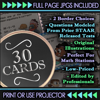 Math TEK 6.12B ★ Data & Graphing | Data Distribution ★ 6th Grade TEKS Task Cards