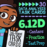 Math TEK 6.12D ★ Relative Frequency Tables & Percent Bar Graphs ★ 6th Grade