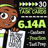 Math TEK 6.14A ★ Checking Accounts & Debit Cards ★ 6th Gra