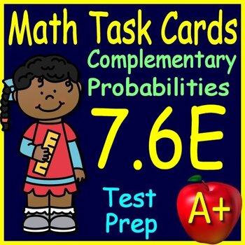 Math TEK 7.6E Theoretical Probability 7th Grade STAAR Math Test Prep Task Cards