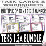 Math TEKS 1.3A BUNDLE Texas 1st Grade Task Cards and Worksheets