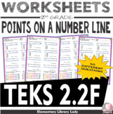 Math TEKS 2.2F Worksheets Texas 2nd Grade Identify Point on a Number Line